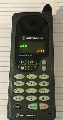 Vintage Motorola Profile/300 Cell Phone Includes Charger & Cell Phone Charger