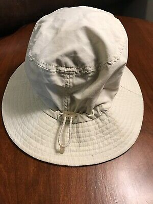 6ebd53d4 Lands End Kids Size Small/Medium Light Tan Bucket Sun Fishing Camping Hat