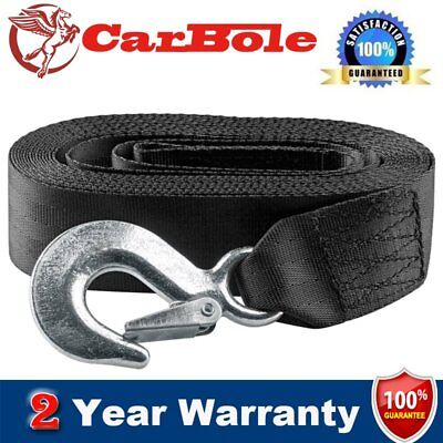 """New 2"""" x20' 3300 lbs Polyester Boat Trailer Hand Winch Strap Forged Snap Hook"""
