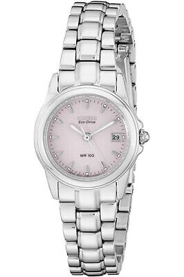 Citizen's Women's Eco-Drive Watch with Pink Dial and Date, EW1620-57X