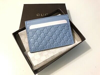 4078dbd5c8c AUTHENTIC GUCCI MICRO Guccissima Leather Card Case Card Holder ...