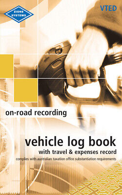 NEW Zions On-Road Log Book Travel & Expense Recording Diary Business Tax