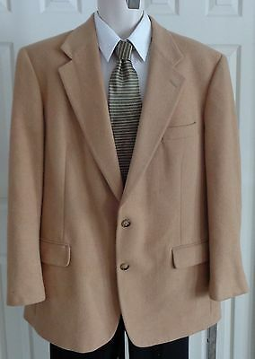 Brooks Brothers tan camelhair sport coat blazer jacket 42R 43R