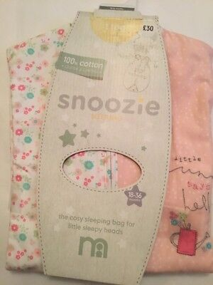 ** Brand New ** Mothercare My Little Garden 18-36 1.0 Tog Snoozie Sleeping Bag