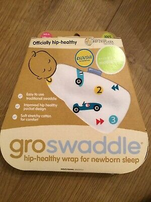 GRO BAG GROSWADDLE @ Mothercare Birth to 14lbs Cars Design Wrap 🚙🚙 Bnip 🚙🚙