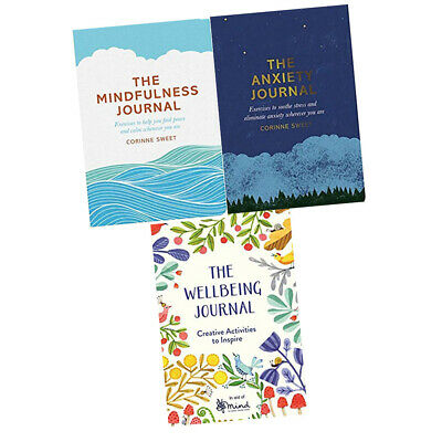 Wellbeing, Anxiety, Mindfulness Journal 3 Books Collection Set Brand New PB