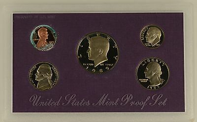 USA 1989 s 5 COIN PROOF YEAR SET - sealed with outer