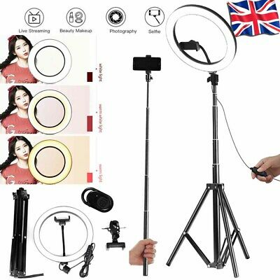 """10"""" LED Ring Light with Stand Dimmable Kit For Makeup Youtube Live Camera iPhone"""