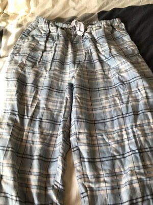 Peter Alexander Blue Checked Pj's Flannel. Size L. New With Tags.