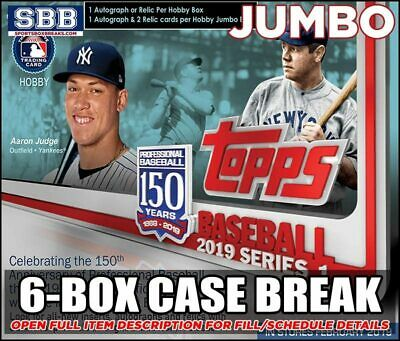 2019 Topps Series 1 Baseball JUMBO 6-Box Case Break6 - NEW YORK YANKEES