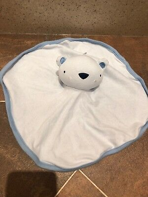 Jainco Pale Blue Teddy Bear Baby Comforter Blanket Blankie Soft Hug Toy Soother