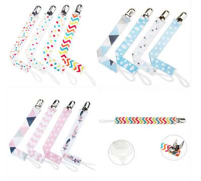 Baby Pacifier Clip Chain Ribbon Dummy Holder Soother Clips Leash Strap Gift