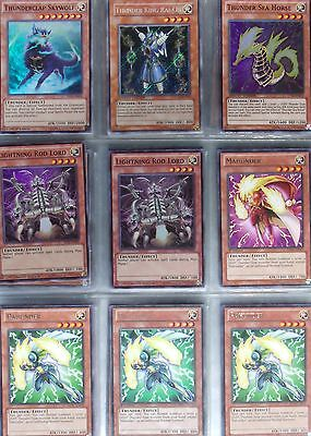 Yugioh Deck Collection Lot: Thunder (40 cards) Lots Of HOLOS!