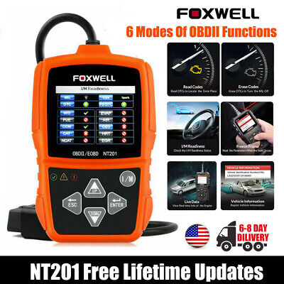 Foxwell NT201 OBDII Car Code Reader Scanner Diagnostic Tool Engine Light Check