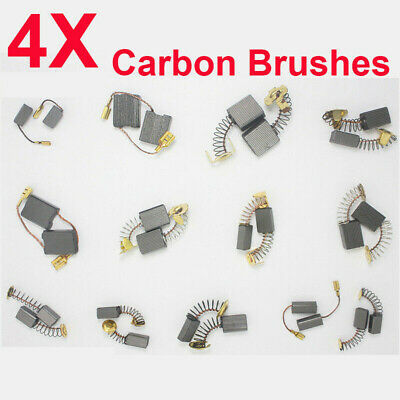 4pcs Carbon Brushes Repairing Part Various Size Tool For Generic Electric Motor