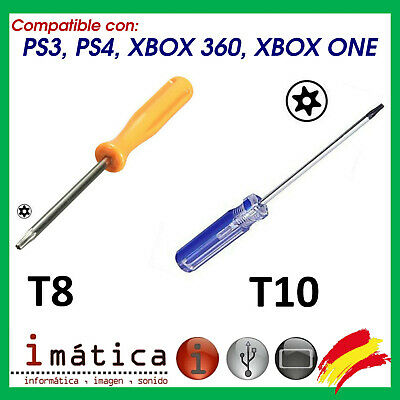 Destornillador Torx T8 Y T10 Para Xbox One Ps3 Ps4 Herramienta Slim Fat