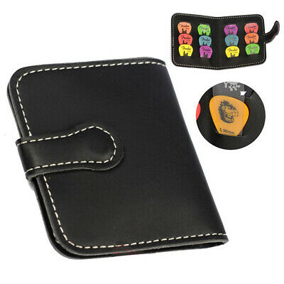 1pcs Leather Guitar Plectrum Holder Guitar Picks Storage Bag Picks Organizer