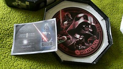 "Star Wars Limited Edition Plate "" Darth Vader"" Boxed And Cert"