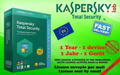 KASPERSKY TOTAL SECURITY  Multidevic 2019 1year send key code by mail (garanted)