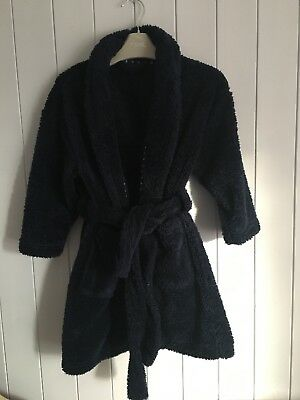 Boys dressing gown size 5 years NEXT blue fluffy
