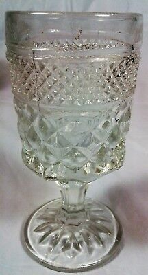 Set of 6 Wine Goblets Anchor Hocking Wexford Crystal Clear Stemware Glasses