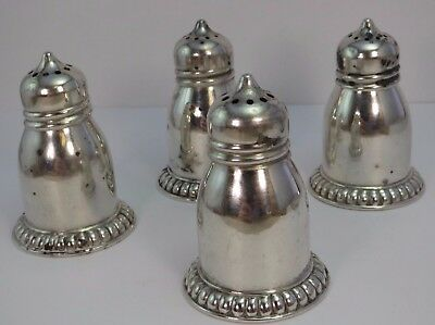 2 Matched Pairs of Antique *BIRKS* Sterling Silver SALT & PEPPER Shakers .925 Ag