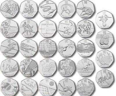 Olympic 50p Fifty Pence - Great British Coin Hunt - rare commemorative 2012