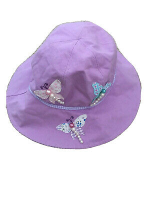 Wallaroo Girl's Sophia UV Sun Hat - Butterflies, 4-8 Years