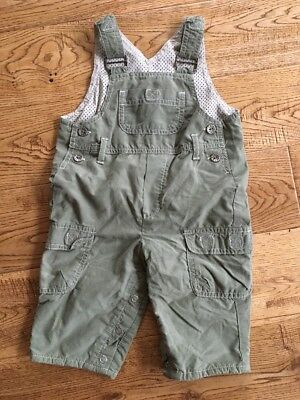 Boys Trousers Dungarees Size 3-6 Months Green Marks And Spencer