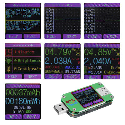 USB 2.0 Color LCD Display TesterTool  Voltage Current Power Meter 0-3.000A 1pc