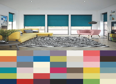 MADE TO MEASURE QUALITY ROLLER BLINDS - BLUES and BROWNS - 20 COLOURS!