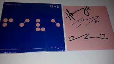 White Lies - Five - New Fully Signed Cd Digipack Album 2019