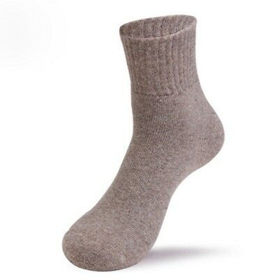 Solid Color Wool Cashmere Comfortable Thick Socks Men Winter Outdoor Sport Socks