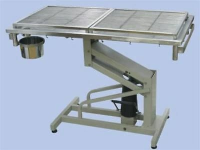 New Veterinary Surgical Operating Table DH03 Stainless Top Manual Hydraulic Lift