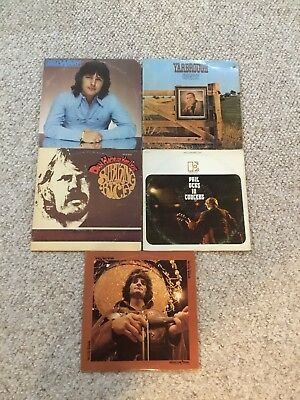 """CLASSIC ROCK LOT OF 5 LPS Vinyl Record Lot 12"""" Lps Vintage Record Albums Country"""