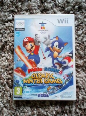 NINTENDO WII GAME Mario & Sonic at the Olympic Winter Games COMPLETE SEGA 2009