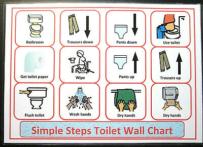 Simple Steps Toilet - Autism /PECS /Dementia /Early Yrs /Self Help /Visual Cards