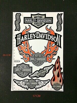 Harley Davidson Motorcycles Sticker Decal  silver O 8 pieces in the same sheet