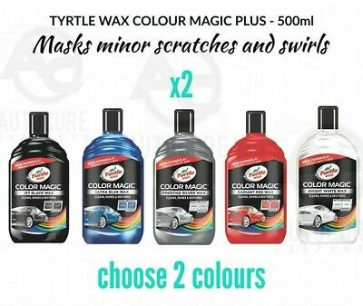 TURTLE WAX Color Magic Plus 500ML SCRATCH SWIRL REMOVER - CHOOSE ANY 2 BOTTLES