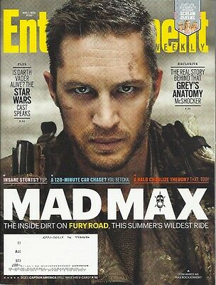 Tom Hardy Mad Max Entertainment Weekly May 2015 Patrick Dempsey Alison Bechdel