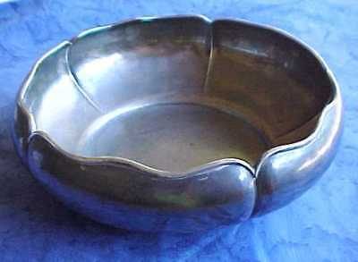 The Kalo Shop Chicago Large Hand Wrought Sterling Lotus 5811 Arts & Crafts Bowl