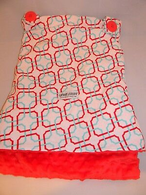 Canopy Couture Tyler Carseat Canopy Red White & Turquoise Blue