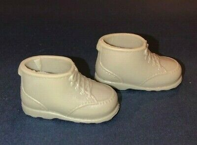 Vintage 1970s Barbie Ken Grey Squishy Boots Taiwan