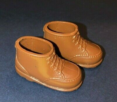 Vintage 1970s Barbie Ken Brown Squishy Boots Taiwan