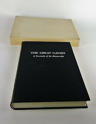 1973 The Great Gatsby A Facsimile of the Manuscript Hardcover Book signed