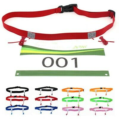 Unisex Elastic Running Waist Pack Race Number Belt Cloth Bib Holder Sports Tool