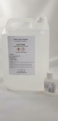 10Ml / 5 Litre Acetone Nail Polish Remover Uv/Led Gel Soak Of Gel Remover 5L