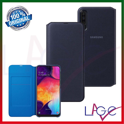 Custodia per Samsung Galaxy A50 2019 A505 Wallet Cover a Libro Nero Originale