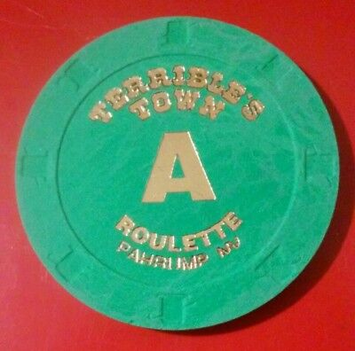 Terribles Town Casino Pahrump, Nevada Brown Letter A Roulette Gaming Chip!