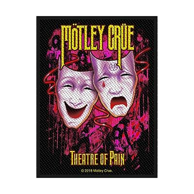 """Motley Crue - """"theatre Of Pain""""- Woven Sew On Patch - Official"""